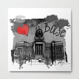 I love Boise Metal Print