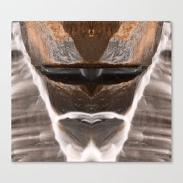 Alien Tribal Mask Canvas Print
