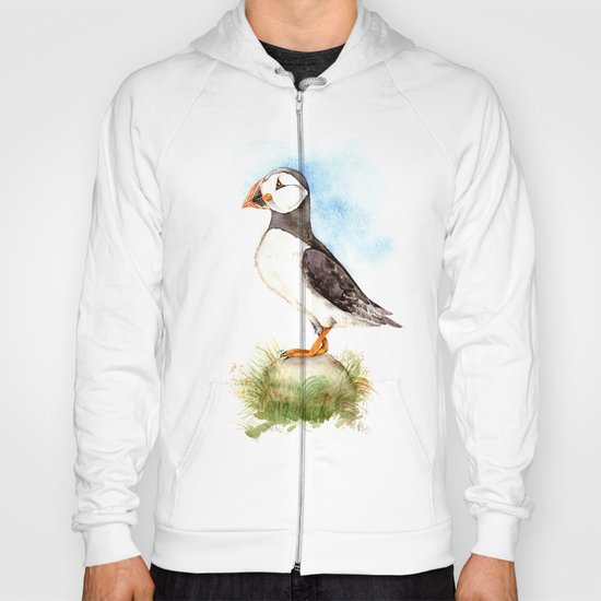 Puffin on a Rock Hoody
