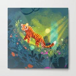 Tiger in the Garden of Kings Metal Print