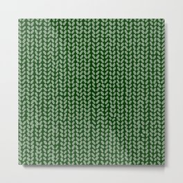 Forest Green Knit Metal Print