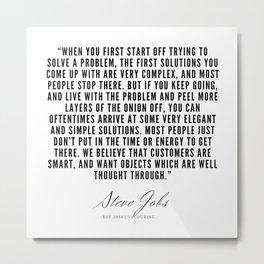 4      Steve Jobs Quotes   190720 Metal Print