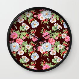 Vintage Floral Pattern No. 5 Wall Clock