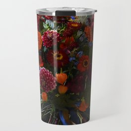 Red & Orange Bouquet Travel Mug