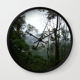 Foggy brazilian forest Wall Clock