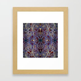 Skulls Purple Rouge Framed Art Print