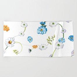 Spring Flowers, Nature 44 Beach Towel