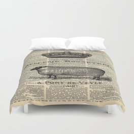 french dictionary print jubilee crown western country farm animal sheep Duvet Cover