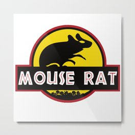 mouse rat logo jurasic parody Metal Print