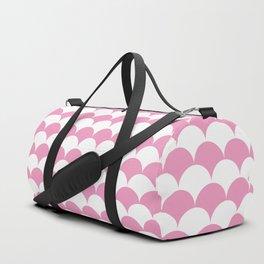 Light Pink Clamshell Pattern Duffle Bag