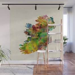 Ireland Eire Watercolor Map Wall Mural