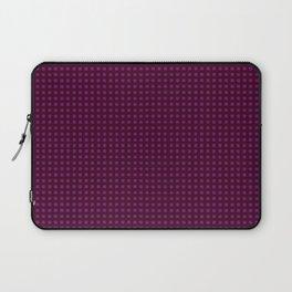 Romantic Dark Red and Black Alternative Pattern Laptop Sleeve