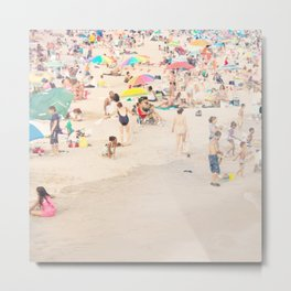 Beach Crowd Metal Print