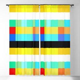 Color Bars & Squares 2A Blackout Curtain