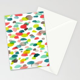 Watercolor Dashes Pattern II Stationery Cards