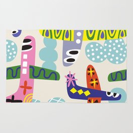 Planes and clouds Rug
