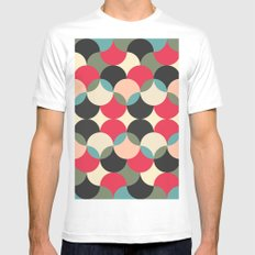 Circles forms engineering MEDIUM White Mens Fitted Tee
