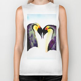 Penguin Love Biker Tank