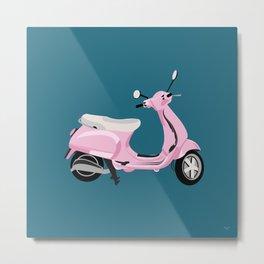 Pink Wheels Metal Print