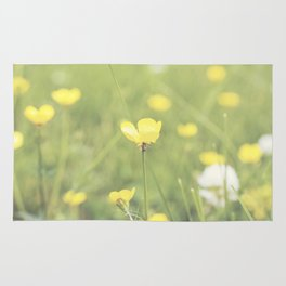 Yellow Flowers in a Field  Rug