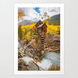 CRYSTAL MILL AUTUMN COLORADO LANDSCAPE PHOTOGRAPHY Art Print