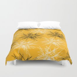 Yellow Squiggles Duvet Cover