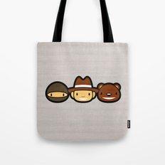 Ninja Cowboy Bear Tote Bag