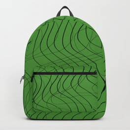 Waves Lines Green Backpack