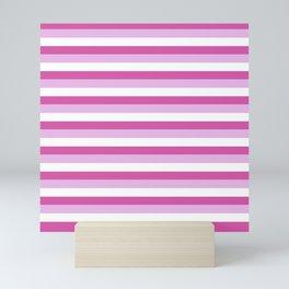 Stripes Of Pink Mini Art Print