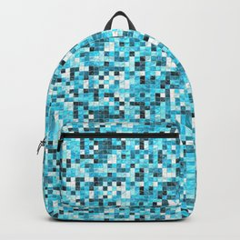Sky Blue Modern Tiled Ceramic Mosaic Tiles Material Texture Backpack