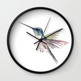 Flying Little Hummingbird Wall Clock