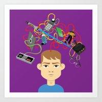 nerd Art Prints featuring Nerd by Mouki K. Butt