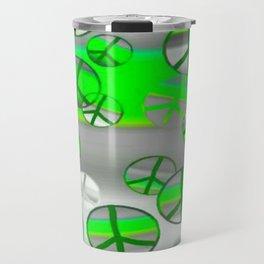 Green and Grey Peace Travel Mug