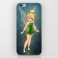 tinker bell iPhone & iPod Skins featuring Tinker Bell by Anais.Lalovi