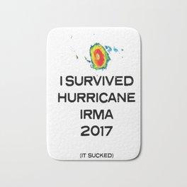 I SURVIVED HURRICANE IRMA 2017 (IT SUCKED) SHIRT TSHIRT Bath Mat