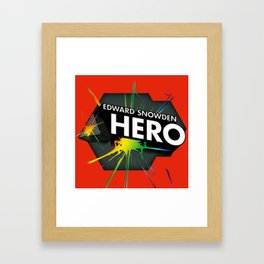 Edward Snowden Prism Hero Framed Art Print