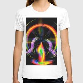 Digital Painting Fire T-shirt