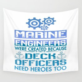 MARINE ENGINEERS Wall Tapestry
