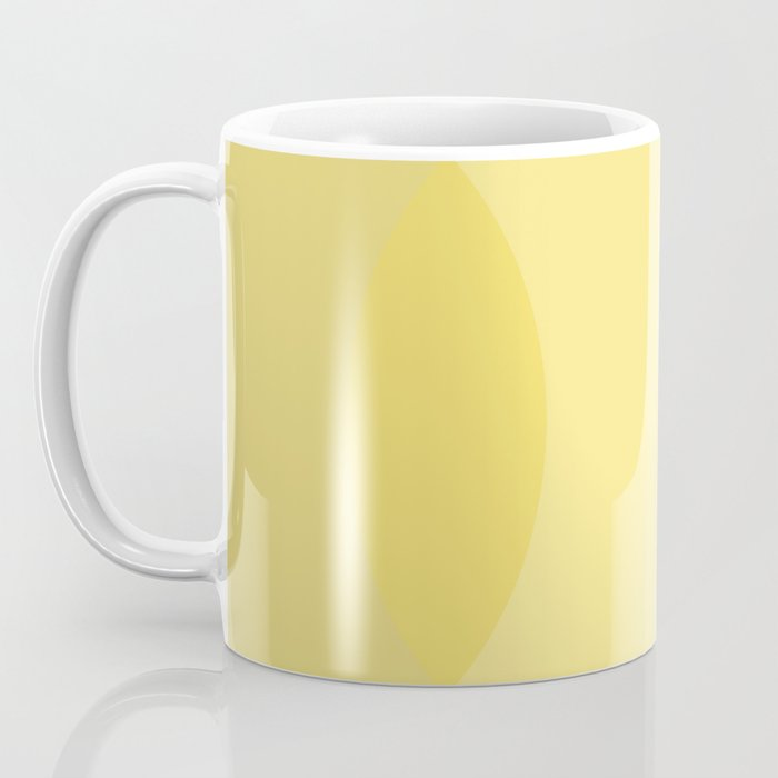 Golden Sunshine Circle Gradient Coffee Mug