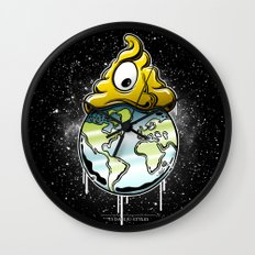 shit rules the world Wall Clock