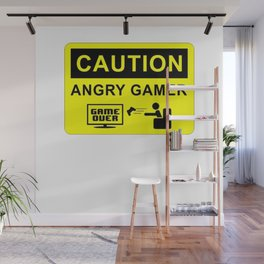 CAUTION ANGRY GAMER Wall Mural