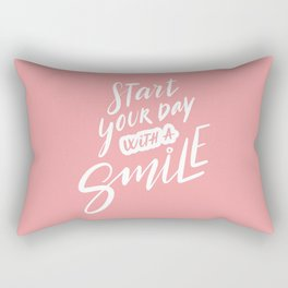 Start Your Day with a Smile Rectangular Pillow