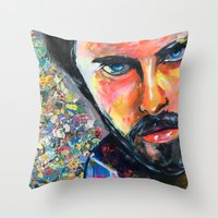 jared leto Throw Pillows featuring Jared Leto by Ilya Konyukhov