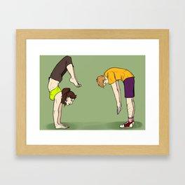 Exercising Framed Art Print