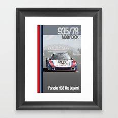 Porsche 935/78 Moby Dick Framed Art Print