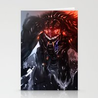 titan Stationery Cards featuring Shadow Titan by Benedick Bana