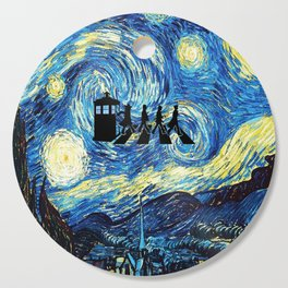 The Doctors Walking Of Starry Night Cutting Board