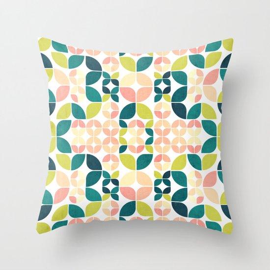 Rose Garden Pattern Throw Pillow