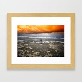 If the Apocalypse Comes I Hope I Have My Rainboots On... Framed Art Print