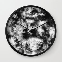 Black and White Tie Dye & Batik Wall Clock